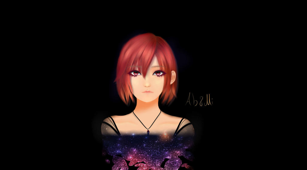 red hair girl by MikiArt89