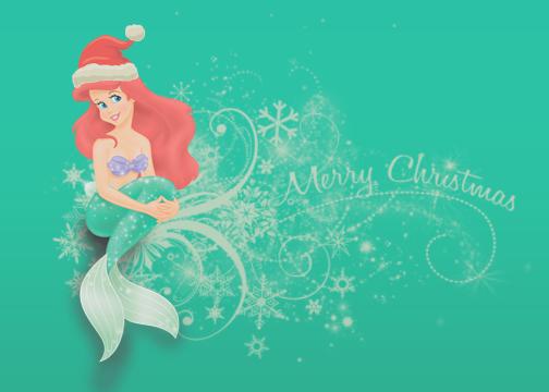 Little-mermaid-christmas by BreeBeeDesigns on DeviantArt