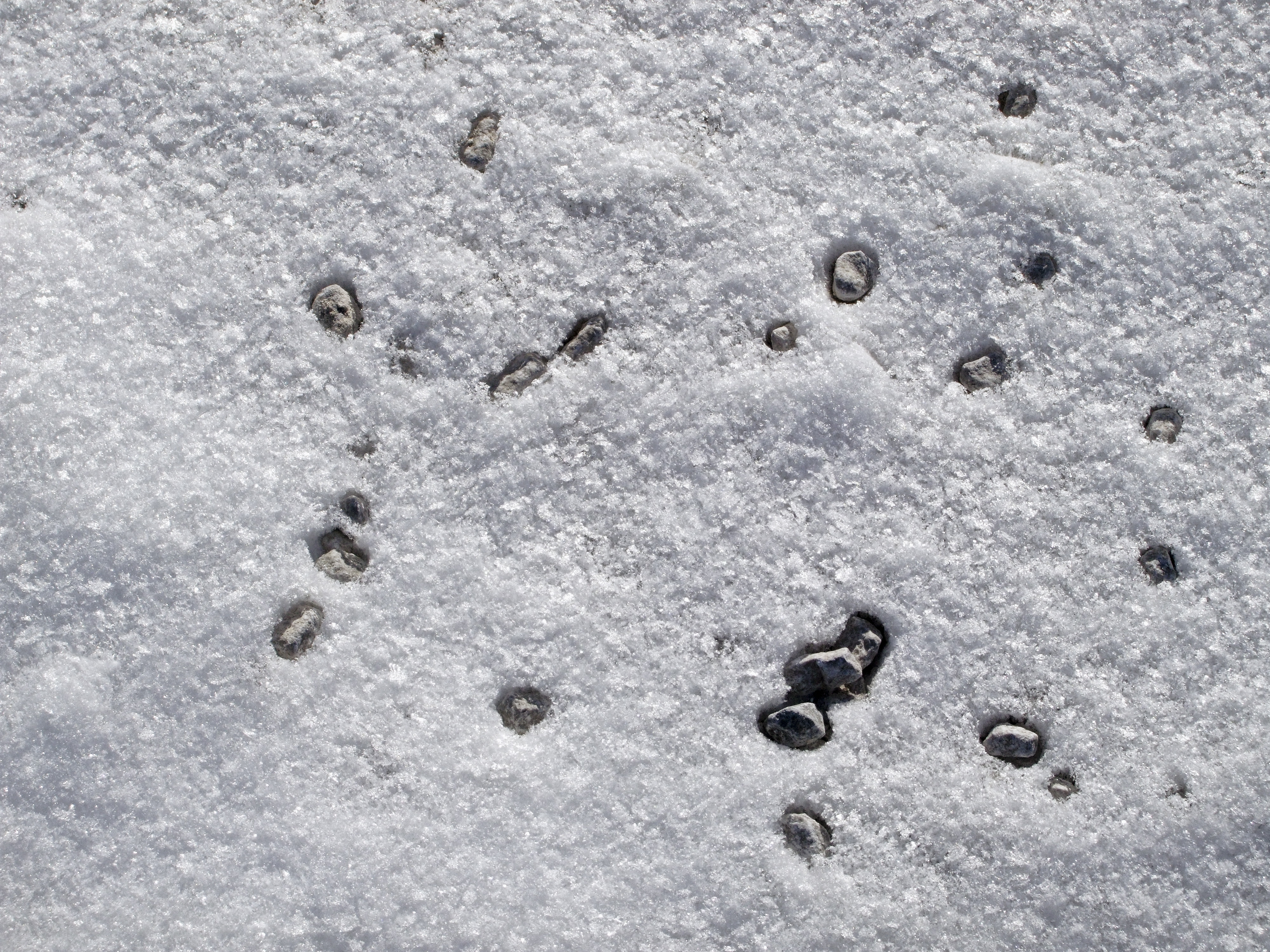 Snow and Pebbles
