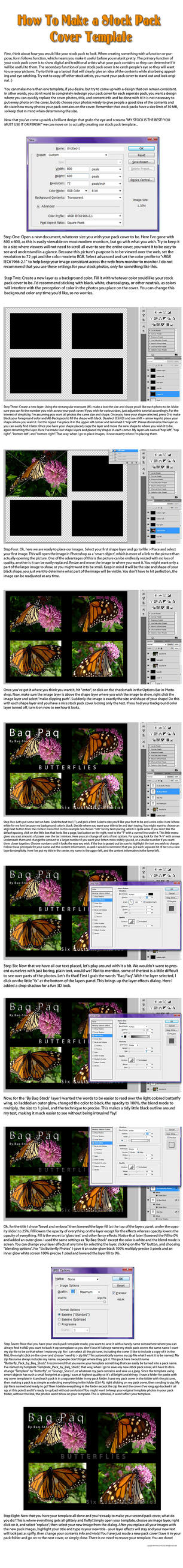 Tutorial: Stock Pack Template by Baq-Stock
