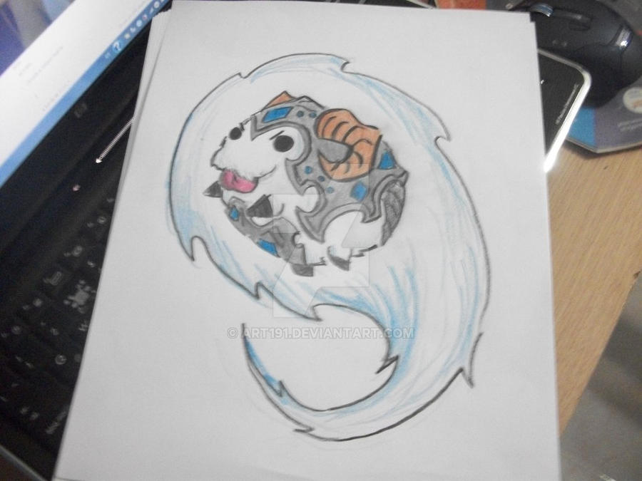 poro drawing i made at my friends house :) by Art191
