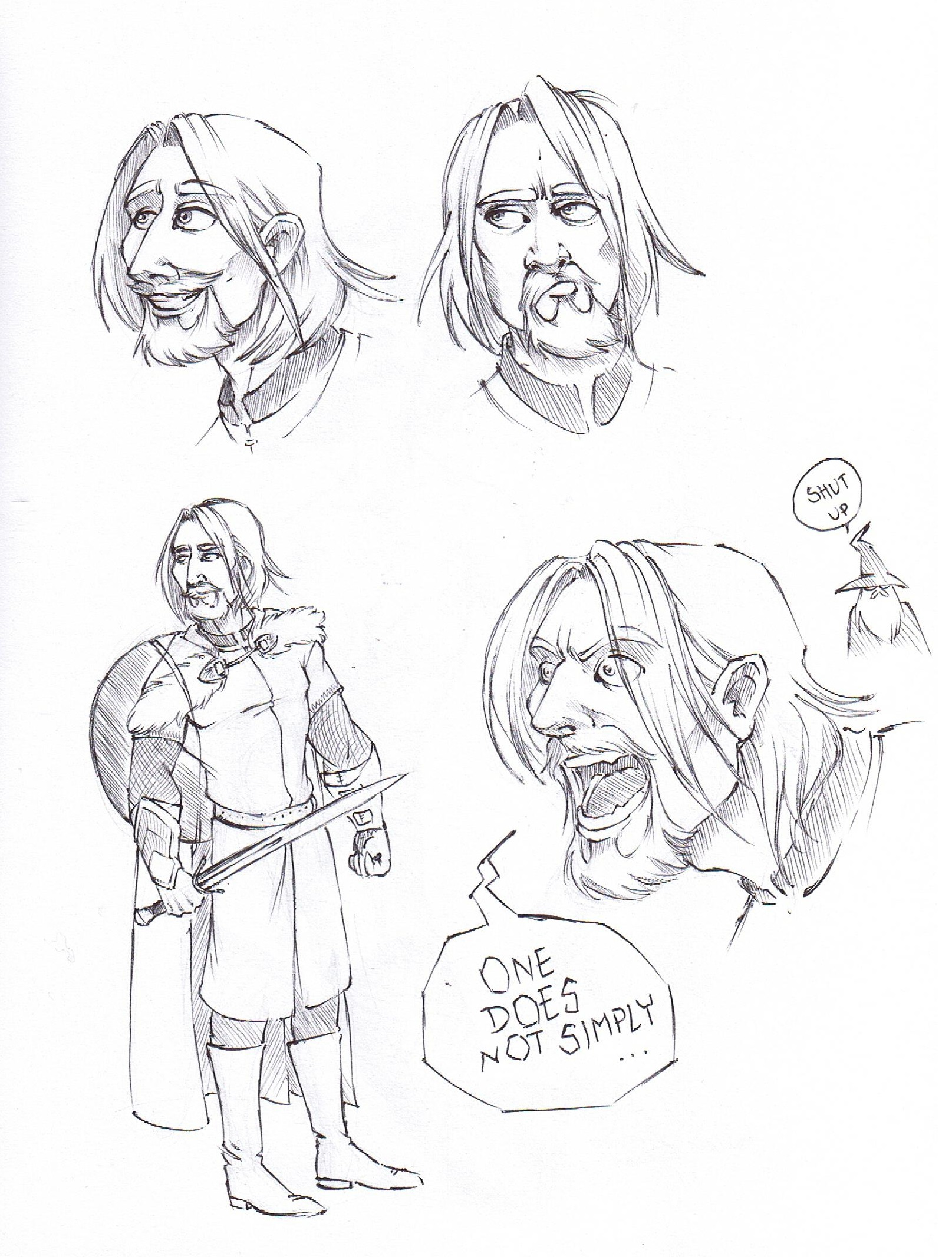 Boromir- In Disney Style Or Something by VforVinegrette