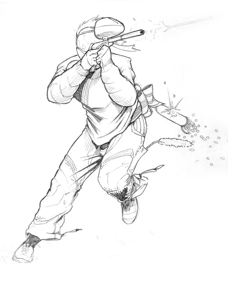 Paintball Commission for Australia (Pencils) by ernesin149