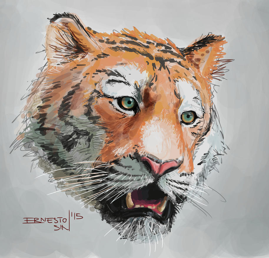 TIGER OF BOREDOM by ernesin149