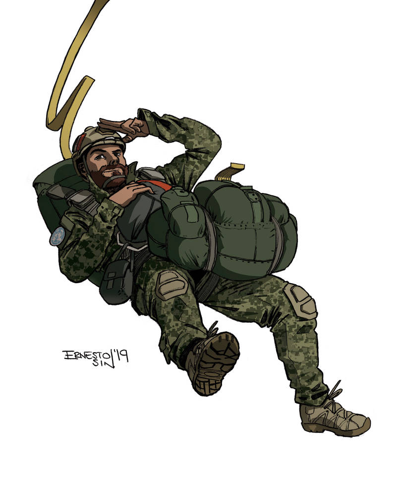 Paratrooper on Static line by ernesin149