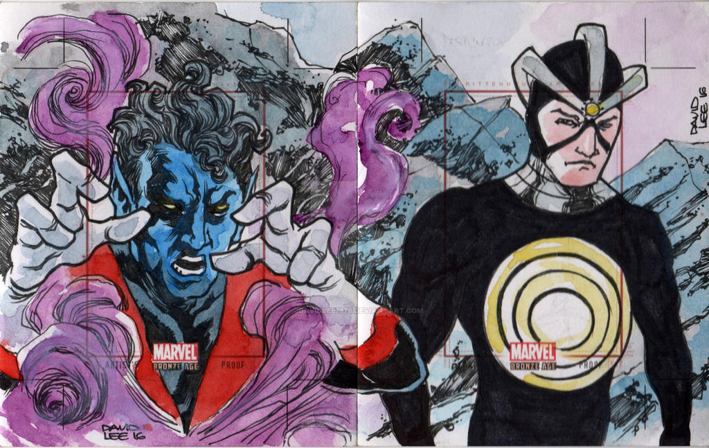 ARTIST'S PROOF: NIGHTCRAWLER AND HAVOK by jdavidlee1979