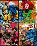 ARTIST PROOF'S X-MEN SKETCH CARDS