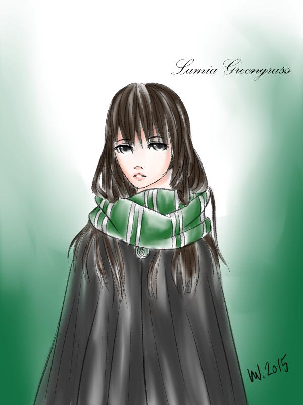 Harry Potter OC - Lamia Greengrass by UmiNamiKodomo on