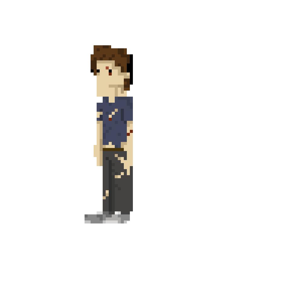 Zombie Pixel Man By BaronBLACK On DeviantArt