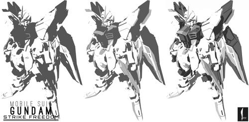 Gundam Strike Freedom by ISPDESIGN