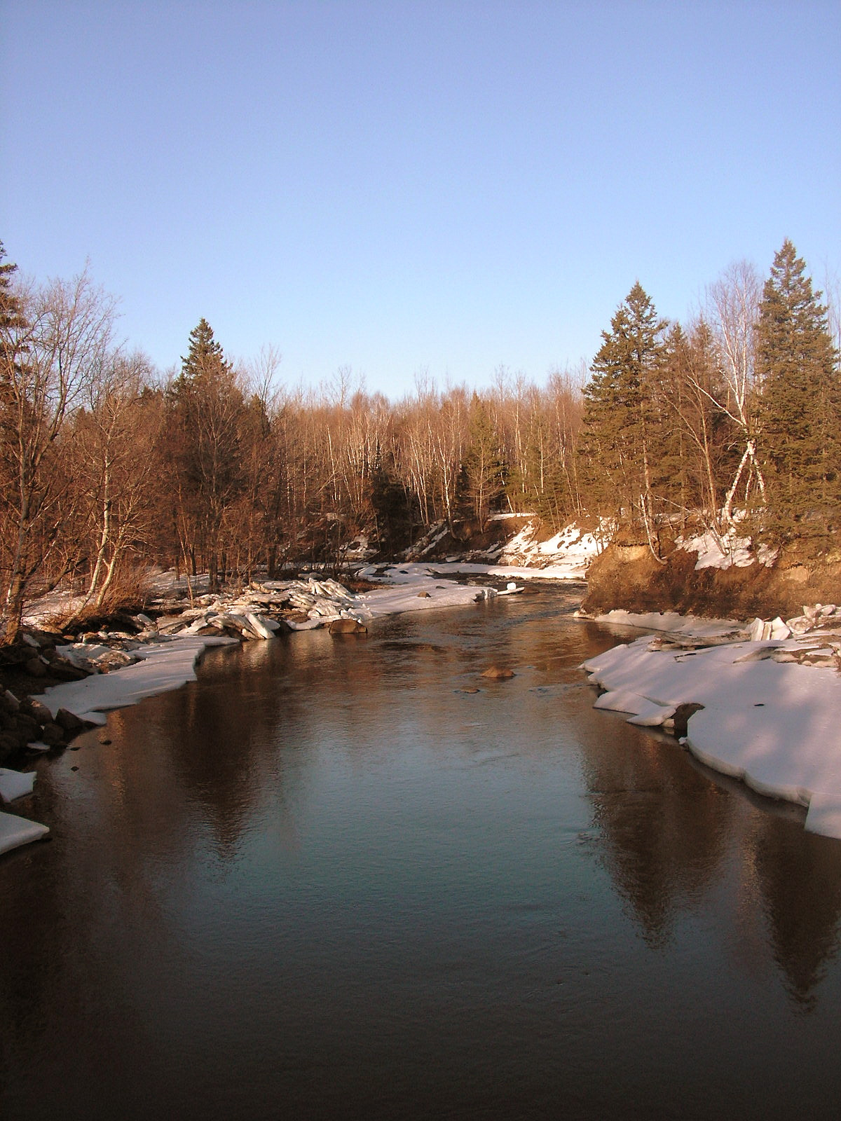 River at the End of Winter by JocelyneR