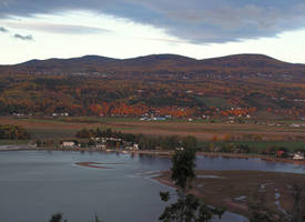 At Dawn in Fall Along the Bay by JocelyneR
