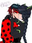 .:Lukanette:. Ladybug!Luka x Lady Noire~