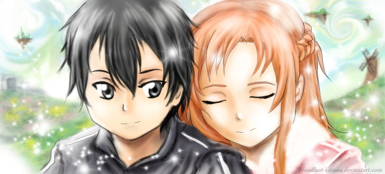 Kirito and Asuna by bloodlust-katana