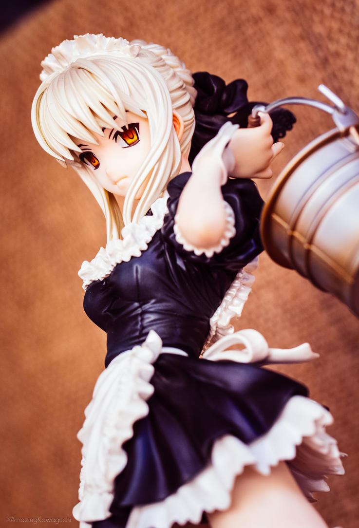 Saber alter Maid by AmazingKawaguchi
