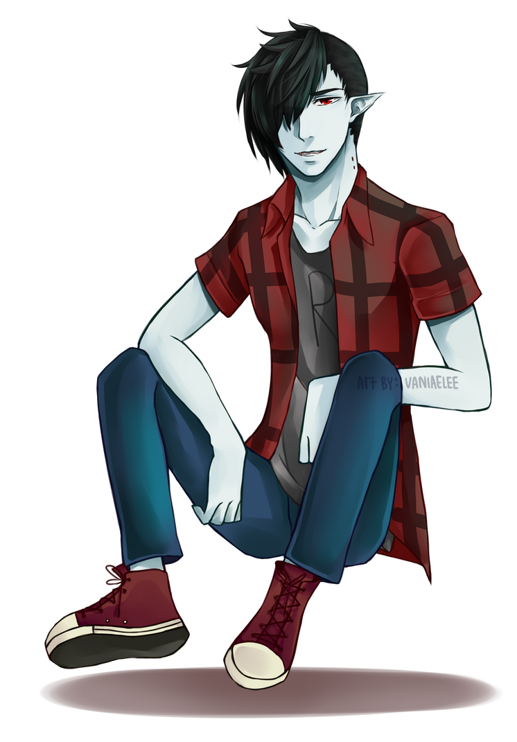 how to draw marshall lee anime style