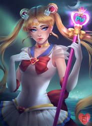 Sailor Moon - coloring contest entry by vaniaelee