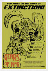 Gears of War Retro Poster by nibcrom