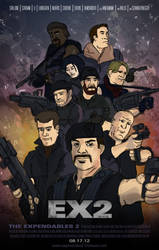 Expendables 2 Poster by nibcrom