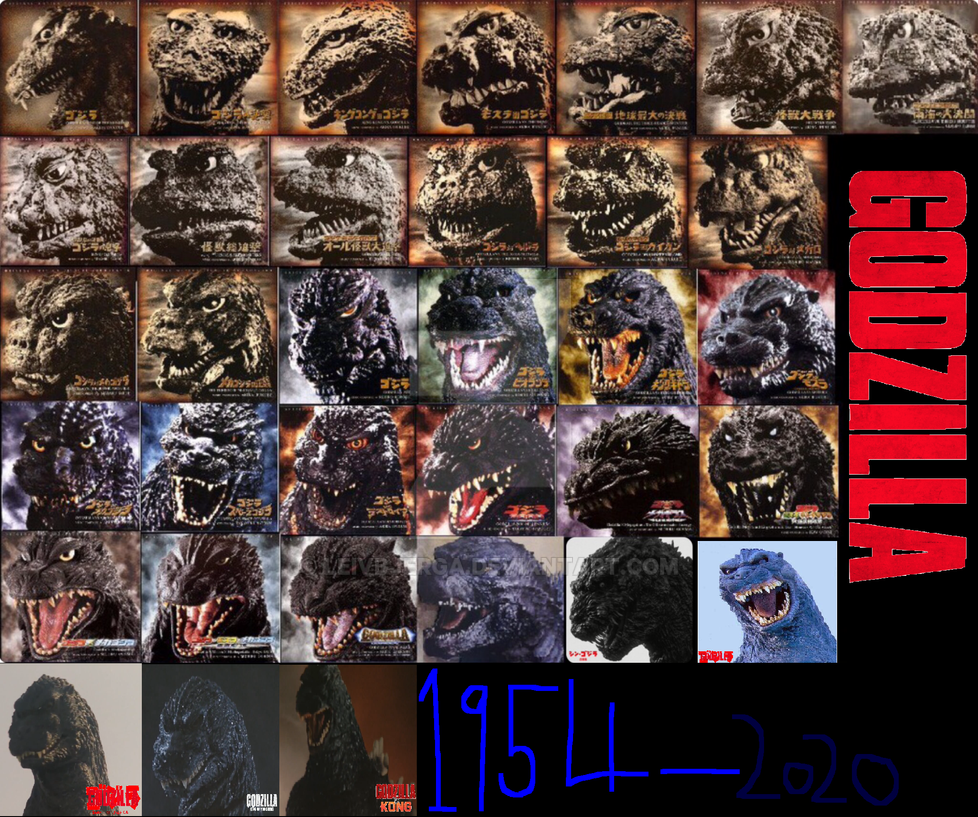 Godzilla 1954-2020 by leivbjerga on DeviantArt