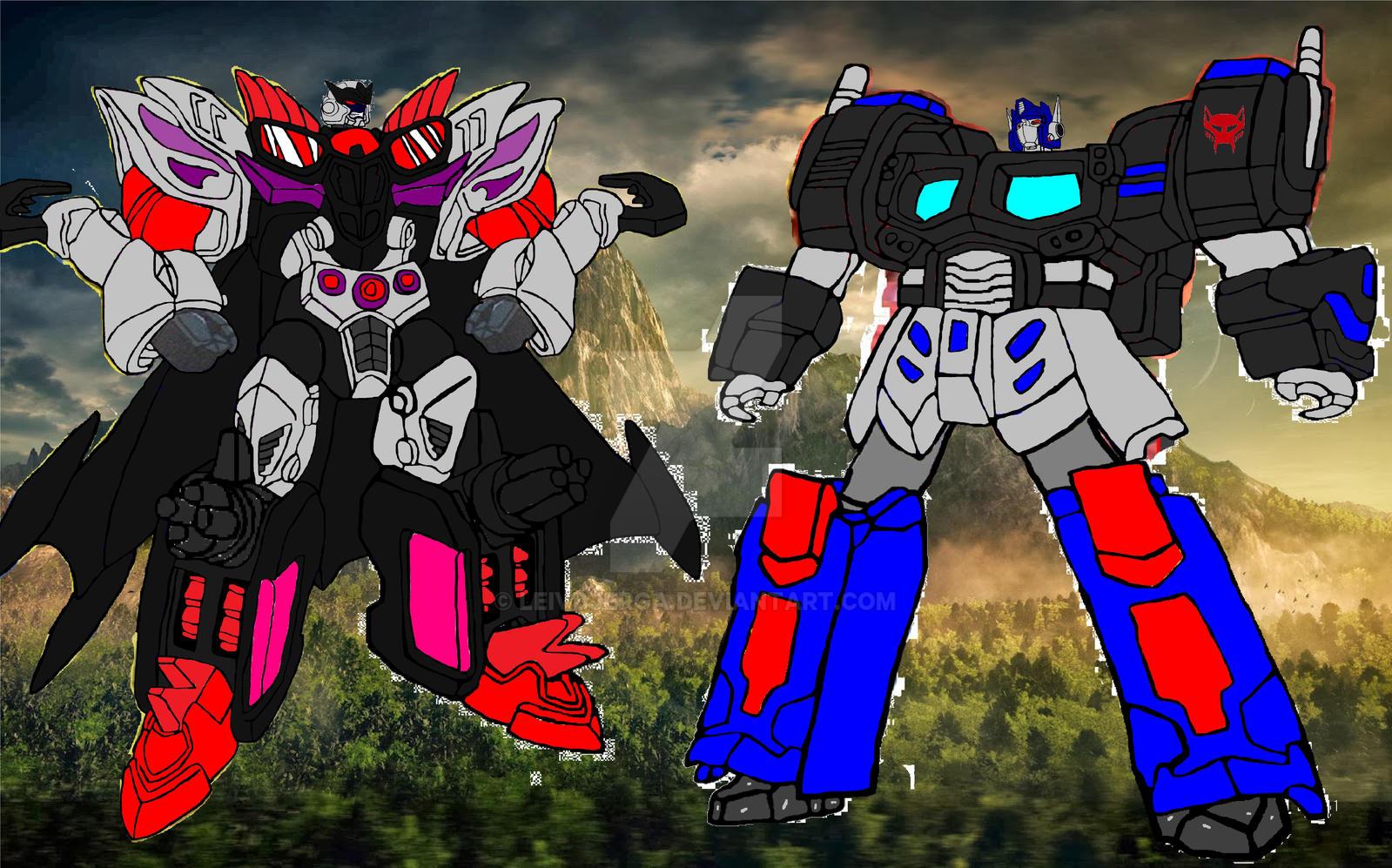 tf beast wars future optimus primal vs megatron by
