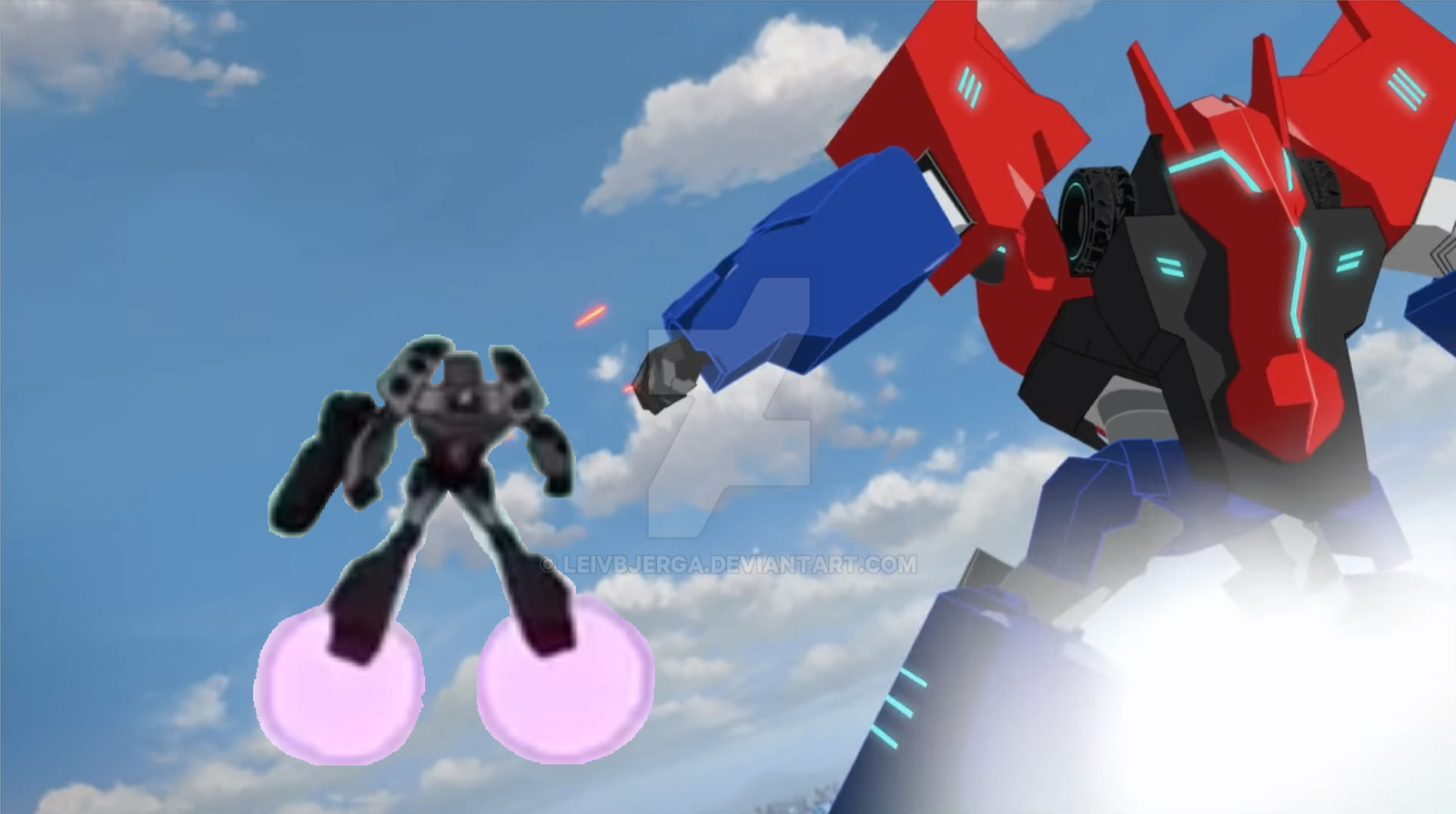 Tf optimus prime vs megatron final battle by leivbjerga on - Transformers cartoon optimus prime vs megatron ...