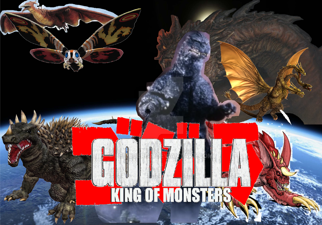 Movie Poster 2019: Godzilla King Of The Monsters 2012~2019 Poster By