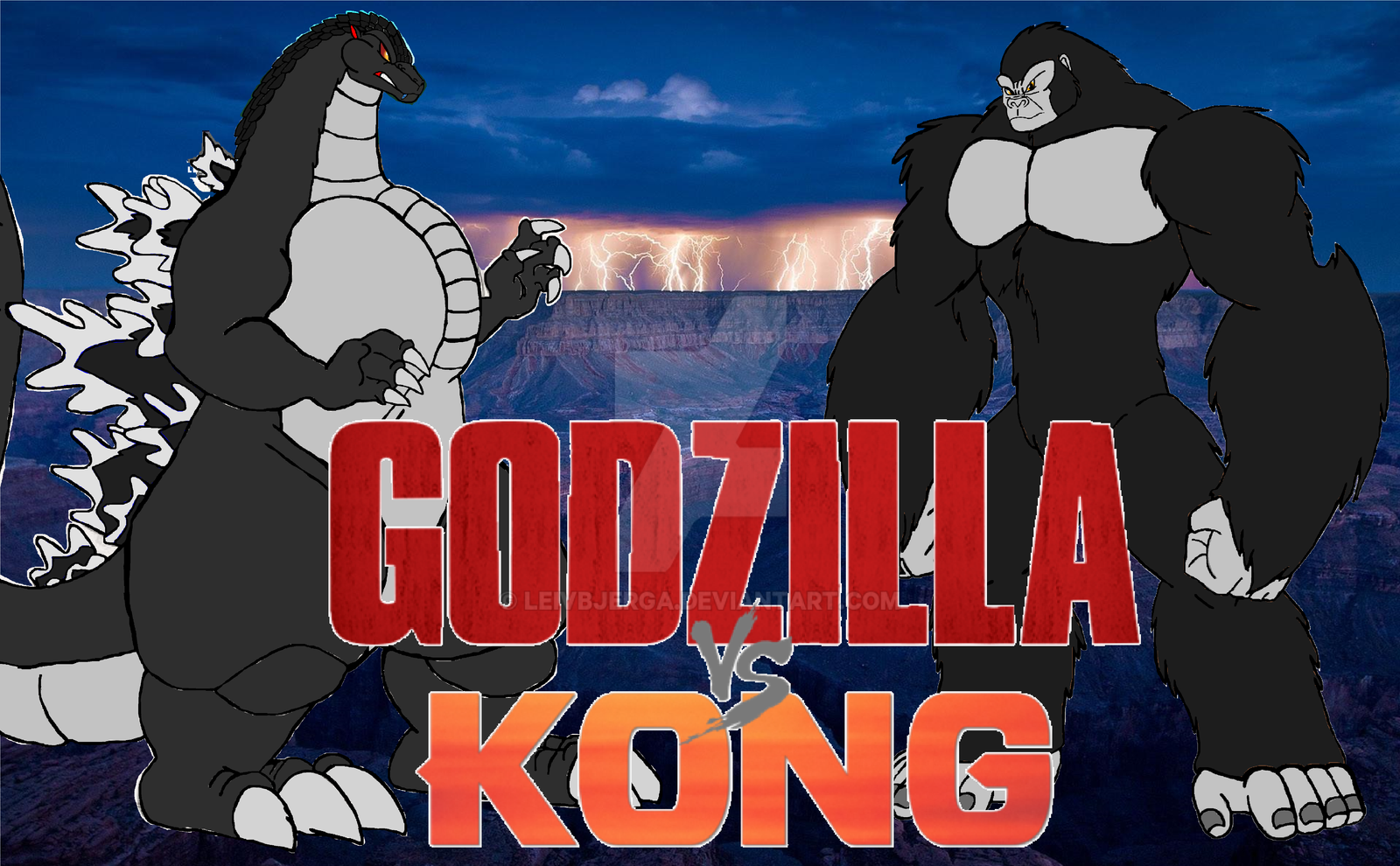 2020 Movie Posters: Godzilla Vs King Kong 2020 The Movie Poster By Leivbjerga