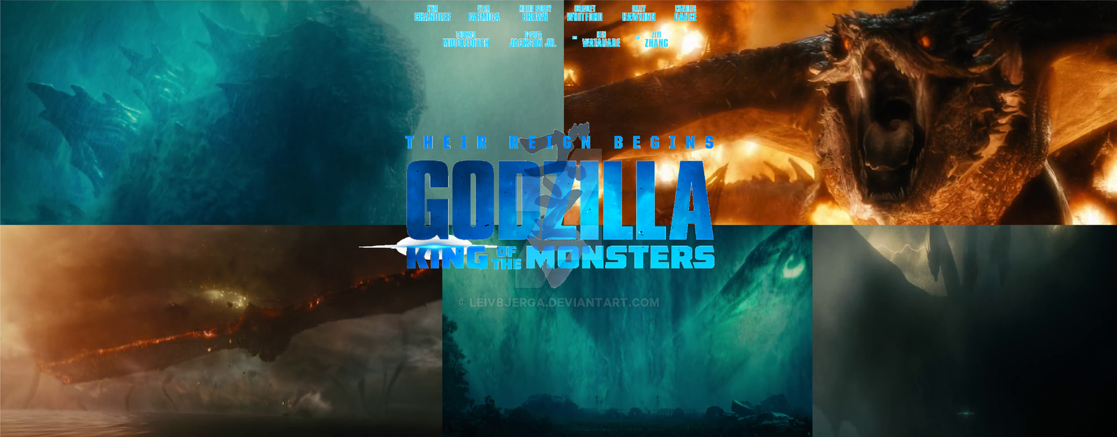 Movie Poster 2019: Godzilla King Of The Monsters 2019 Poster By Leivbjerga On