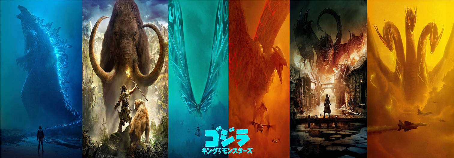 Movie Poster 2019: Godzilla King Of The Monsters 2019 Wallpapers Jap By