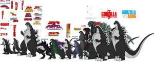 Evolution Of Godzilla 1954~2021