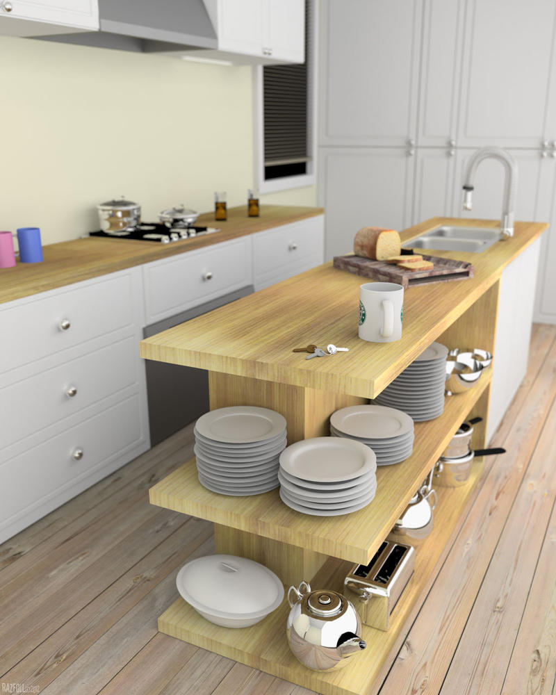 Kitchen 3D - Blender Cycles by razfoil