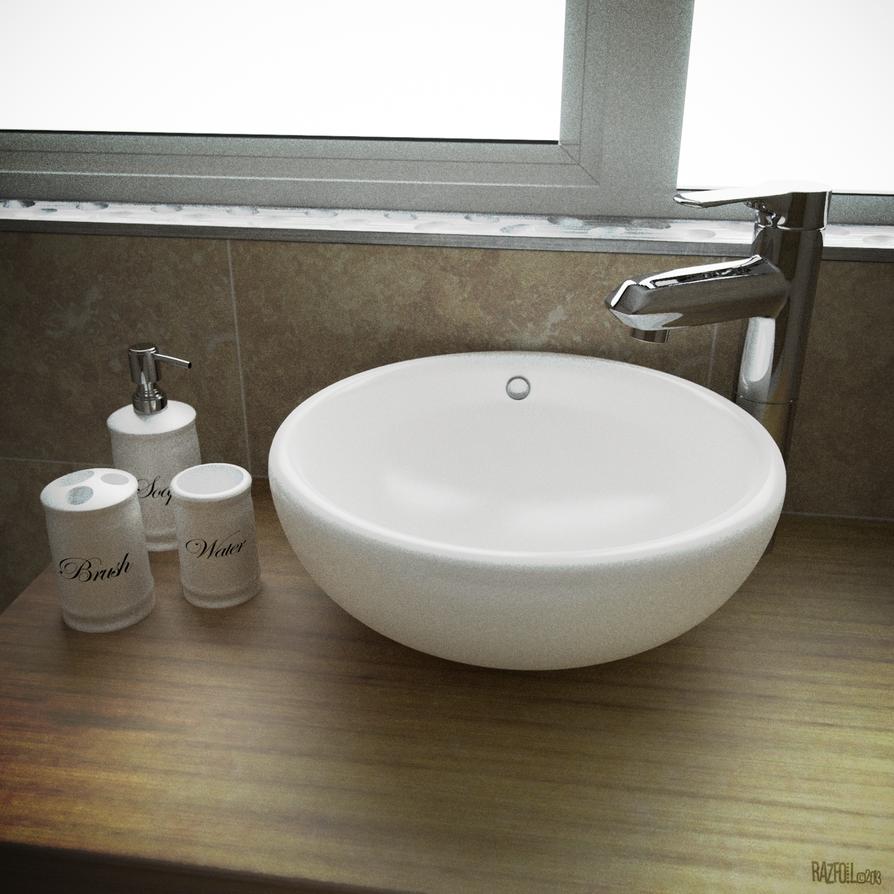 Bathroom sink 3d photorealism blender by razfoil on for John lewis bathroom wallpaper