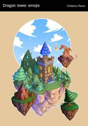 Dragon tower icon