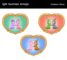 Lgbt bunnies icons by CristianoReina