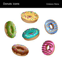 Donuts icons by CristianoReina