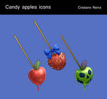 Candy apple icons by CristianoReina