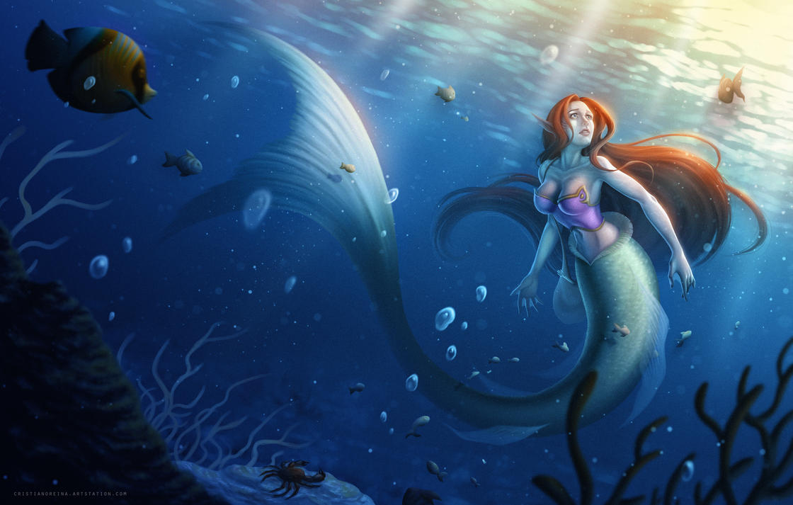 Under the sea - The little mermaid by CristianoReina