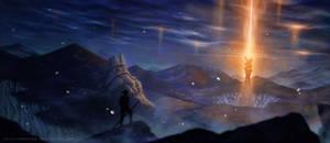 Golden fireflies' heath by CristianoReina