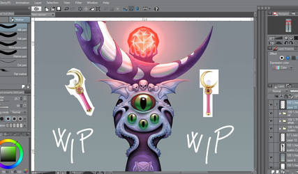 Exlips moon stick - wip by CristianoReina