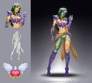 Tisifone - makeover character design by CristianoReina