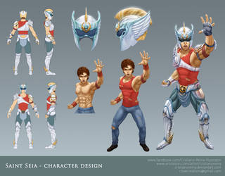 Saint Seia - Makeover character design by CristianoReina