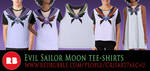 Sailor Moon Tee-shirts by CristianoReina