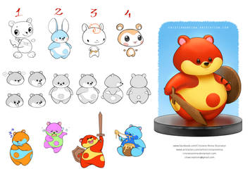 Teddy bear character design - commission by CristianoReina