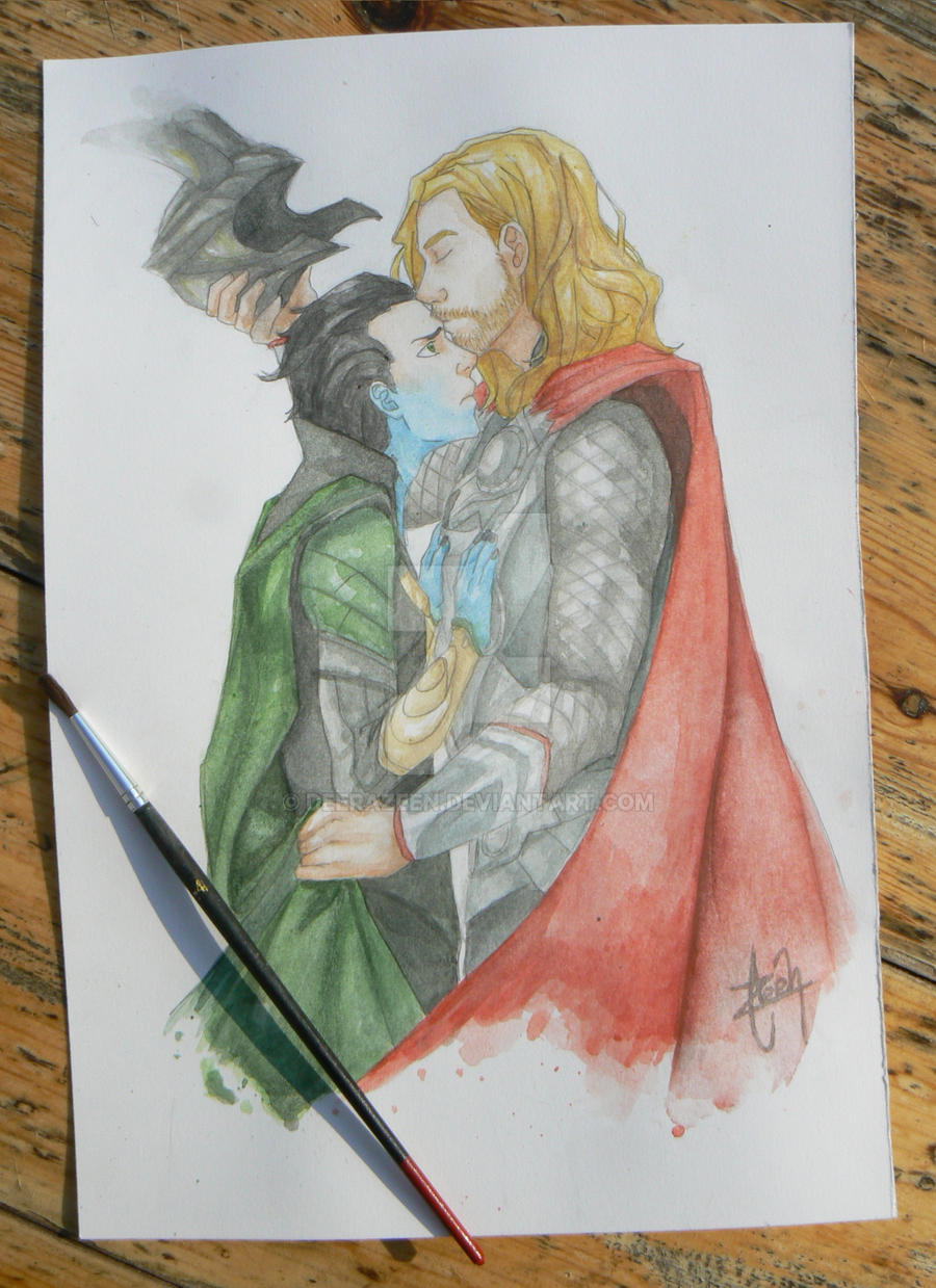 Thorki watercolor by DeerAzeen