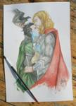 Thorki watercolor