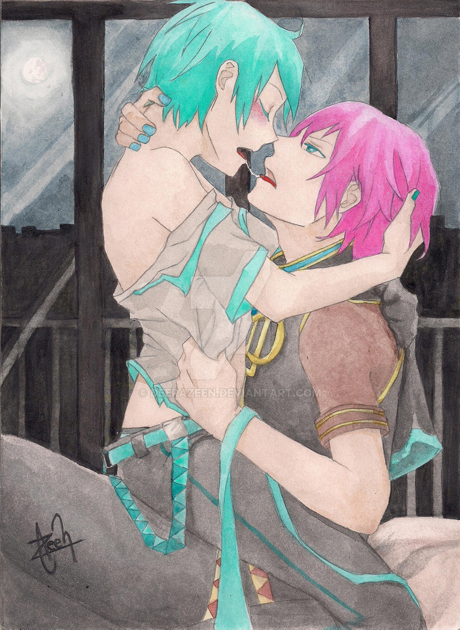 Mikuo+Luki commission watercolor by DeerAzeen