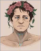 Flower Crown Castiel [+speed paint video ] by DeerAzeen