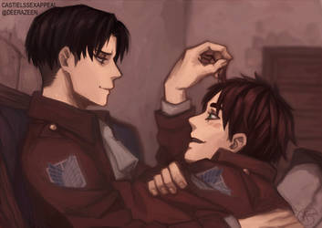 Levi x Eren favourites by AngeGummyWormLover on DeviantArt