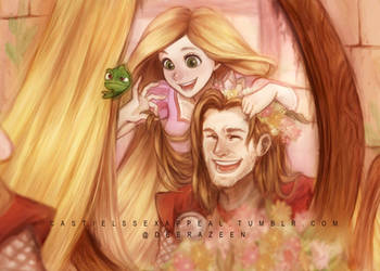 Thor and Rapunzel - Thorpunzel by DeerAzeen